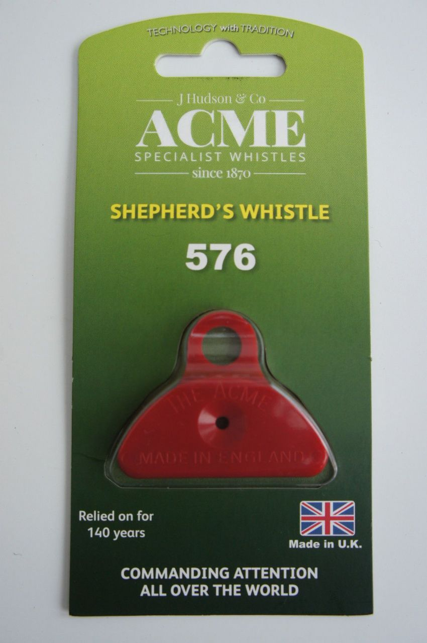 SHEPHERDS WHISTLE PLASTIC WITH MATCHING COLOURED LANYARD